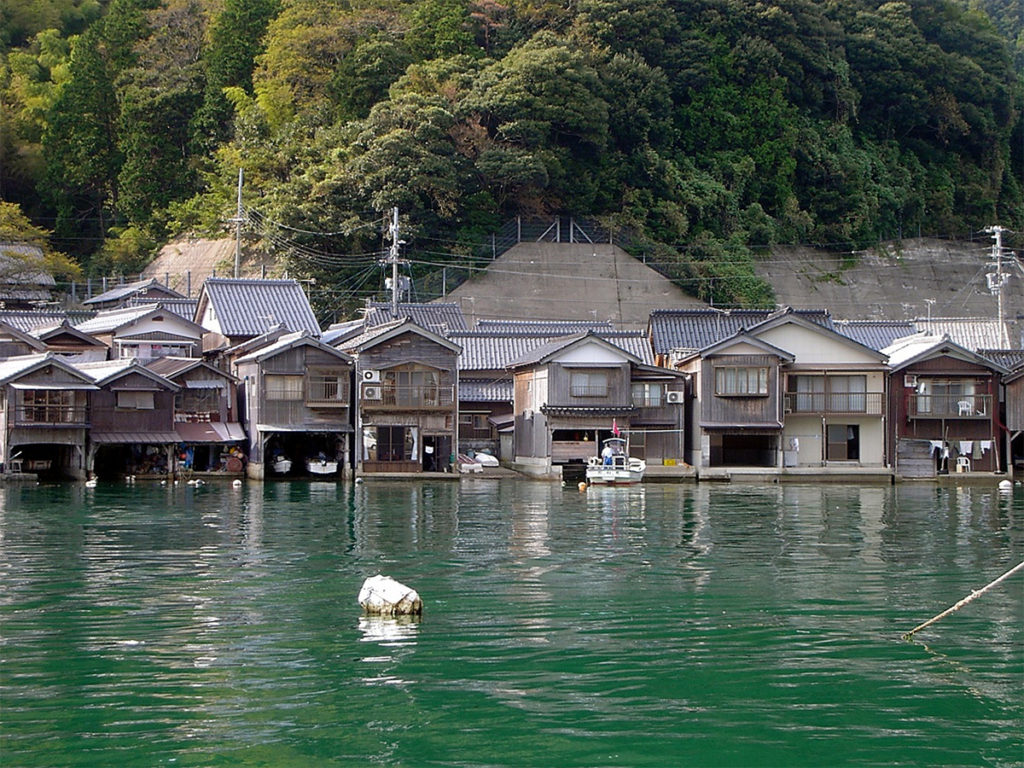 Ine Bay funaya boat houses